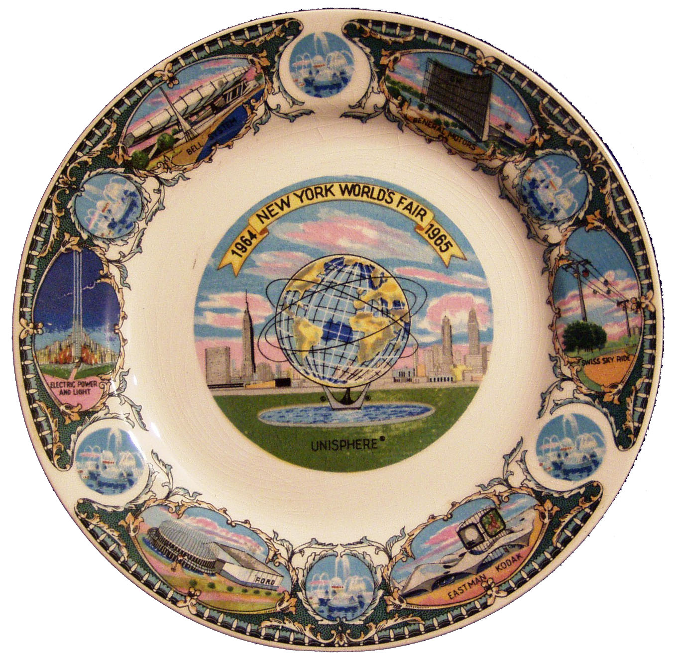 1964 New York World's Fair collectible souvenir plate