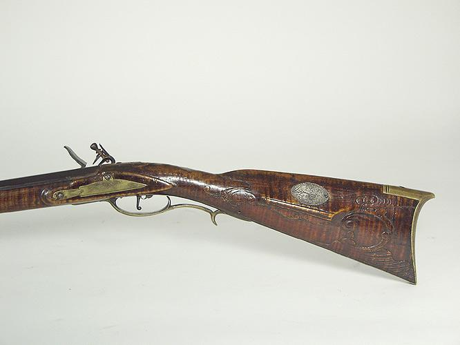 Rifle sell frederick flintlock tiger maple silver