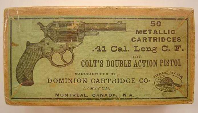 Ammunition Dominion Cartridge Box Colt Lightning