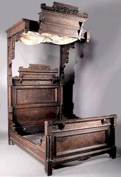 furniture suite bedroom victorian eastlake walnut. Black Bedroom Furniture Sets. Home Design Ideas