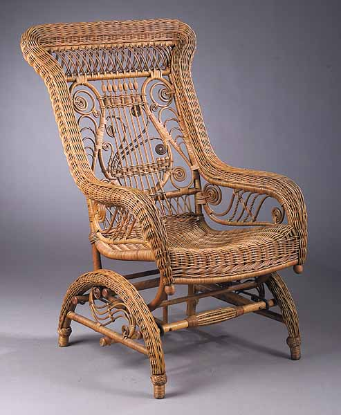 furniture wicker heywood wakefield rocker rectangular