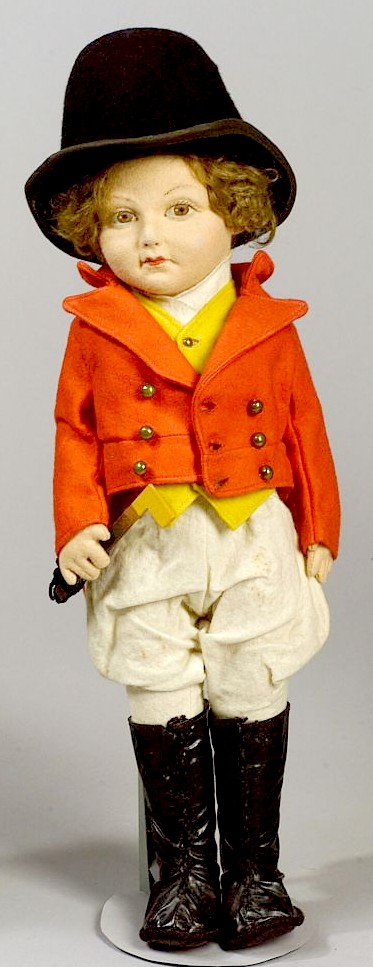 "Norah Wellings ""Master of the Hounds"" doll in hunt attire"