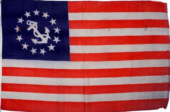 A circa 1850s 13-Star and Anchor flag