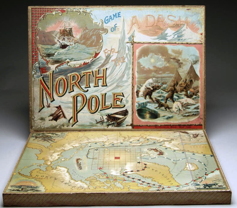 McLoughlin Bros board game- Dash For The North Pole