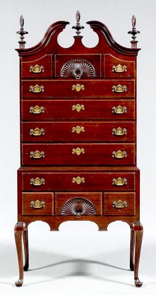 Furniture Highboy Federal Style Kindel Mahogany 11