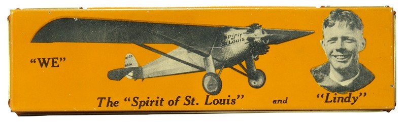 Spirit of St Louis lithographed tin pencil case