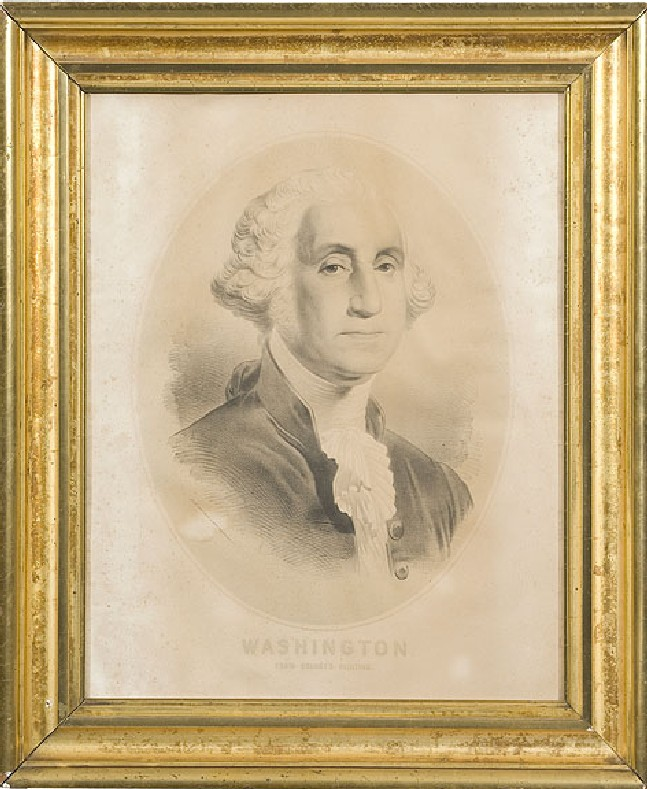 Lithograph of George Washington