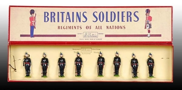 A Britains No. 2090 Royal Irish Fusiliers set with 8 figures in the original box