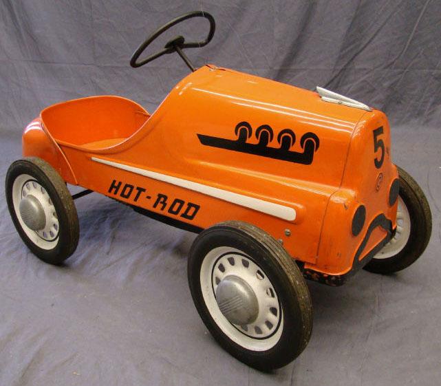 Pedal Car; Garton, Hot Rod, No 5, Sad Face