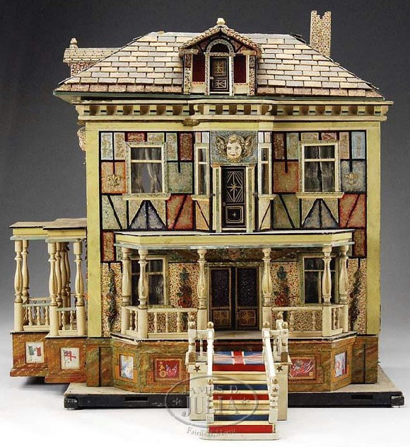 Dollhouse hacker christian lithographed 2 story Two story elevator cost
