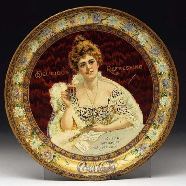 Coca-Cola 1903 Hilda Clark serving tray