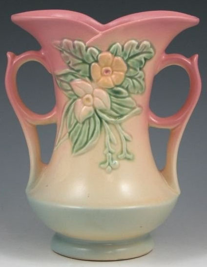 Hull Pottery Wildflower Vase Pink Amp Blue 8 Inch