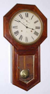 Wall clock seth thomas world model 15 day rosewood 32 for Seth thomas wall clocks value