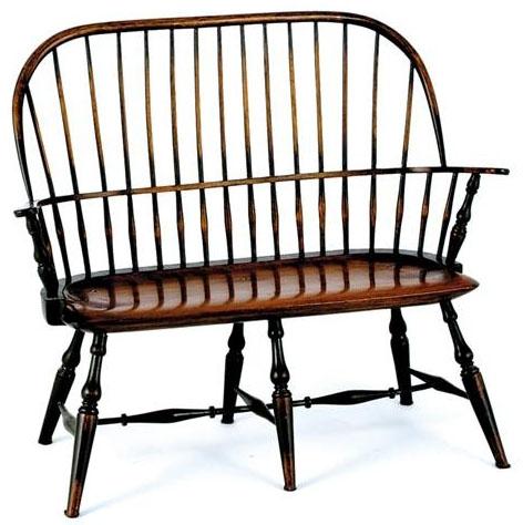 Furniture Miniature Windsor Bench Sack Back Timberlake
