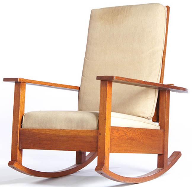 Furniture Chair Rocking Arts Crafts Stickley L JG Oak