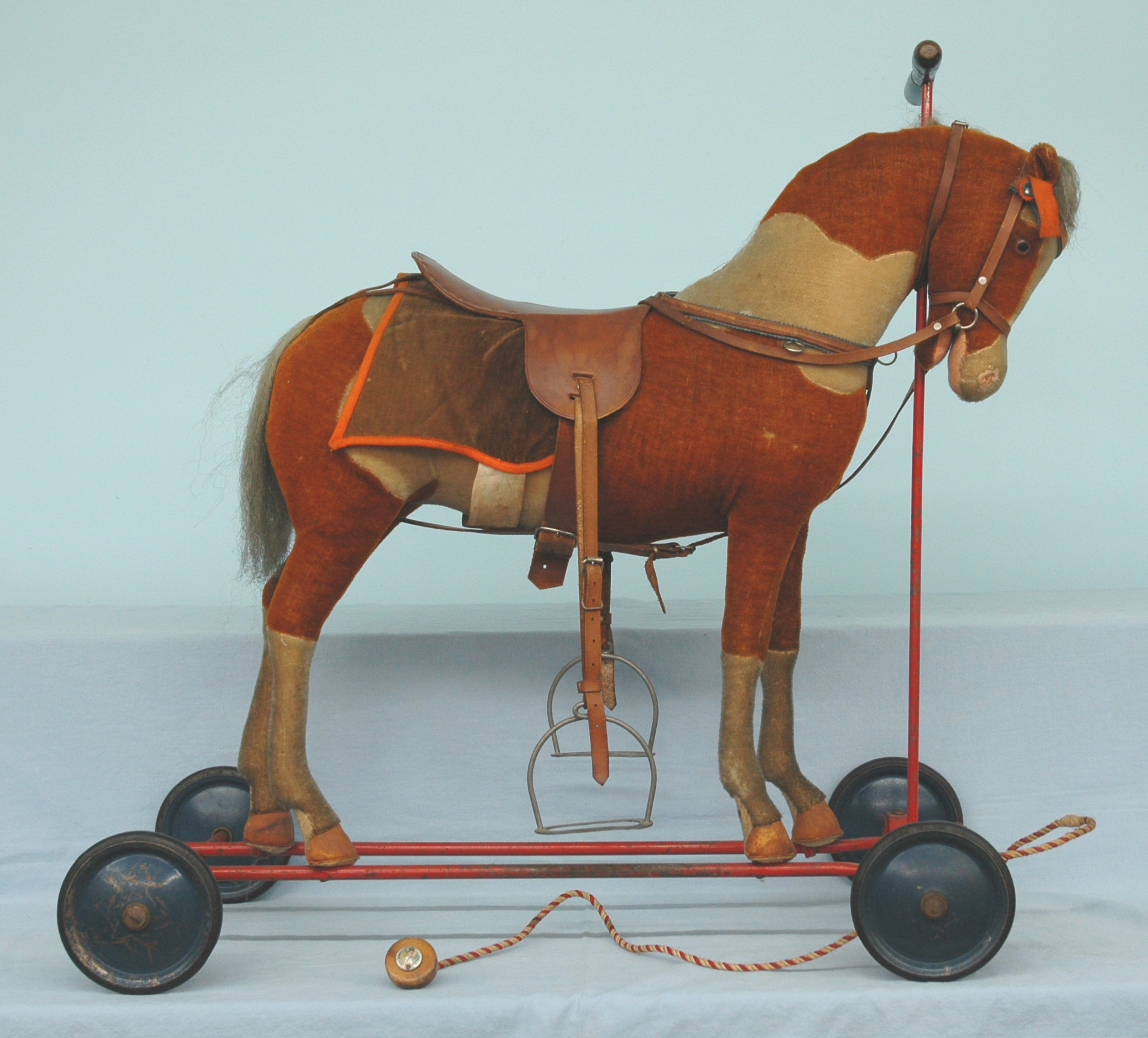 Ride On Steiff Horse Plush Disc Wheels Ear Amp Pull