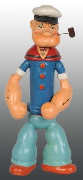 Composition Ideal jointed Popeye figure, marked Popeye 1935 King Features Syndicate