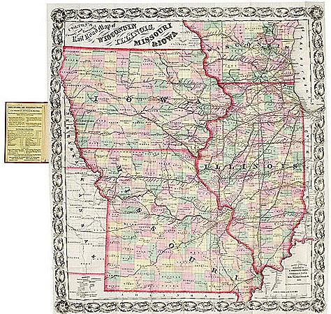 Iowa Illinois Missouri Map