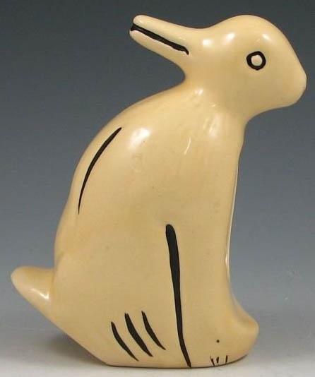 Weller Pottery; Planter, Duck or Rabbit, Double Figures ...