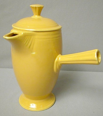 Fiesta yellow demitasse coffee pot