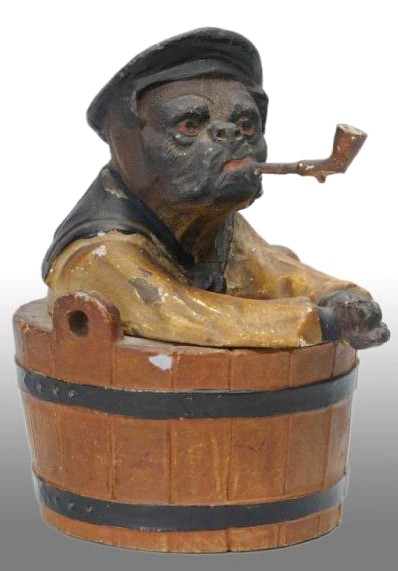 Inkwell; sailor dressed dog in tub