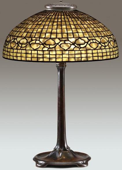 Acorn pattern Tiffany Studios table lamp