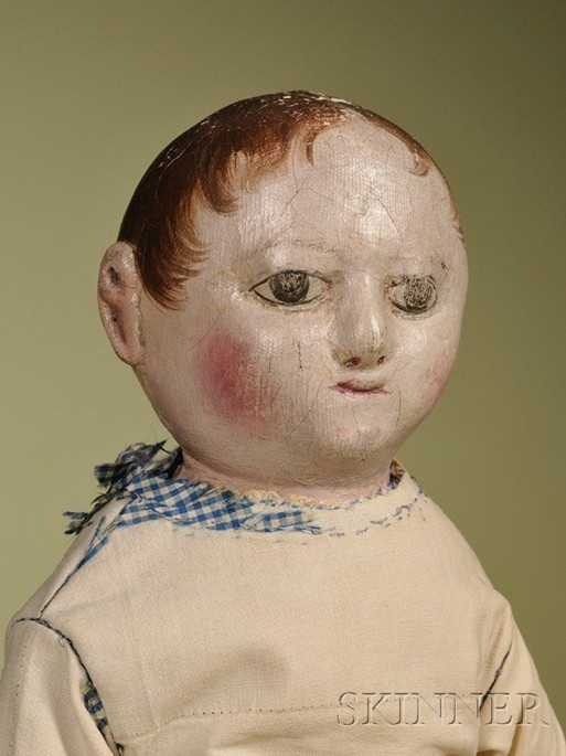 An Izannah Walker cloth Child doll, image courtesy of Skinner