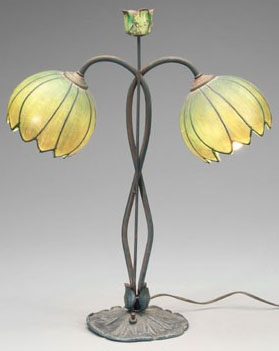 Loevsky & Loevsky art glass table lamp