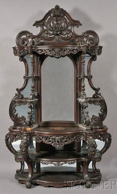Furniture Etagere Victorian Rococo Revival Roux Alexander