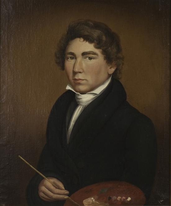William Matthew Prior, only known self portrait