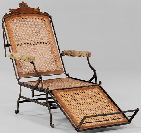 Furniture Chair Lounge Victorian Marks Adjustable