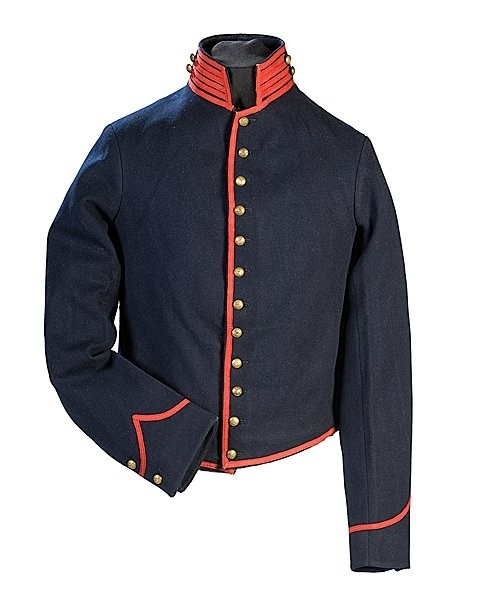 A Civil War Union regulation artillery shell jacket made by the Cincinnati Depot