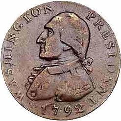 Us Coinage Half Dollar 1792 Washington Amp Eagle