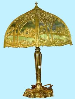 royal art glass co  table lamp