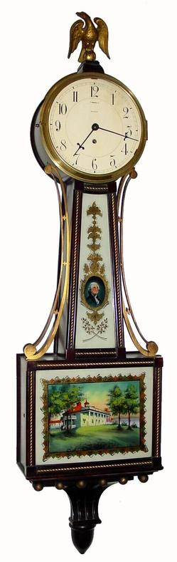 Banjo Clock Waltham Willard Model Mahogany George