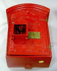 Gamewell Fire Alarm Telegraph Company http://www.prices4antiques.com/Alarm-Gamewell-Excelsior-Alarm-Box-Cast-Iron-14-inch-A085498.htm