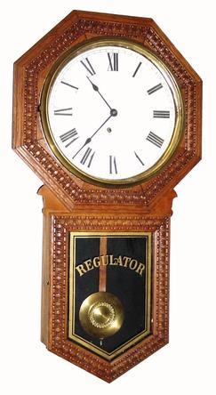 Regulator Clock Ingraham Clock Co Hartford Wall 8 Day