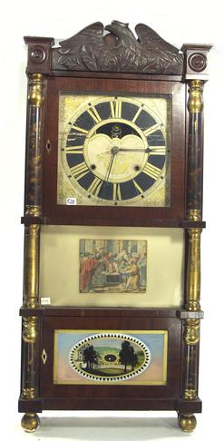 Shelf Clock Birge Gilbert Amp Co Triple Decker Eagle