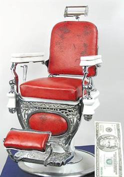 Salesman Sample Barber Chair Theo A Kochs Co Porcelain