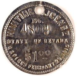Hunting license 1910 nevada 2 inch for Fishing license nevada