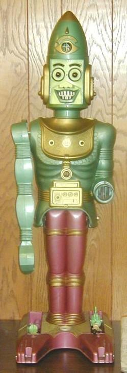 Big Loo Robot http://www.prices4antiques.com/Robot-Marx-Big-Loo-Giant-Moon-Robot-Plastic-Battery-Operated-B130186.htm
