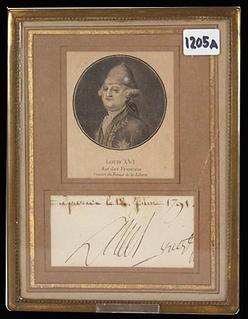 signature louis xvi 1791 bust portrait. Black Bedroom Furniture Sets. Home Design Ideas