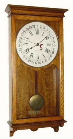 Regulator Clock Seth Thomas Store Wall Oak 35 Inch