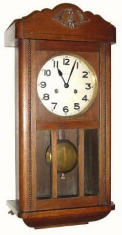 Wall Clock Frederick Mauthe 8 Day Oak 24 Inch