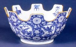 A Chinese Export porcelain blue and white monteith, circa 1690