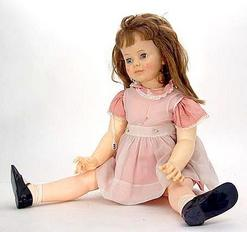 Vinyl Doll Ideal Toy Co Patti Playpal Sleep Eyes Brown