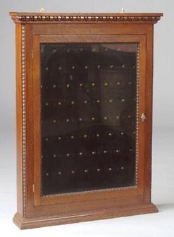 Display Case Pocket Watch Wall Mount Oak 36 Inch