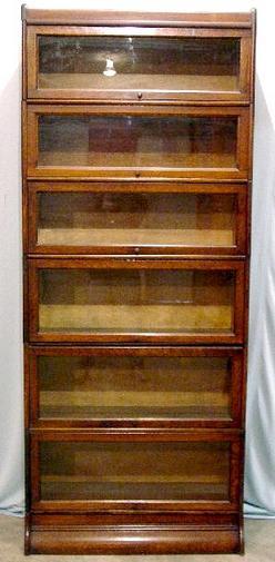 Furniture Bookcase Stacking Udell Works Oak 6 Section