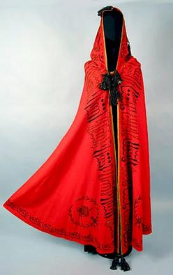 Burnoose Cloak Arabian Export Wool Script Embroidery