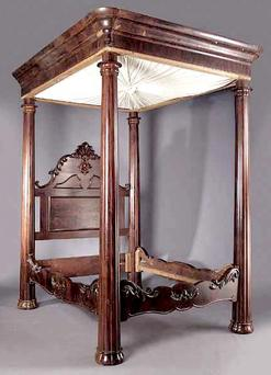 Furniture Bed Tester Victorian Rococo Revival Tall 4